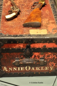 Annie Oakley's trunk from the Wild West Show.
