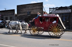 Tour the town in a stagecoach.