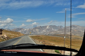 The Beartooth Highway— 8% grade—15 mph hairpin turns! Hair-raising!